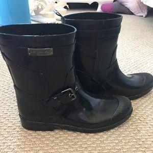 Coach black short Lester rain boots, 9